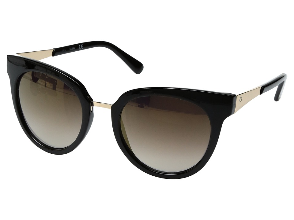 GUESS - GF0309 (Black/Smoke Mirror Lens) Fashion Sunglasses