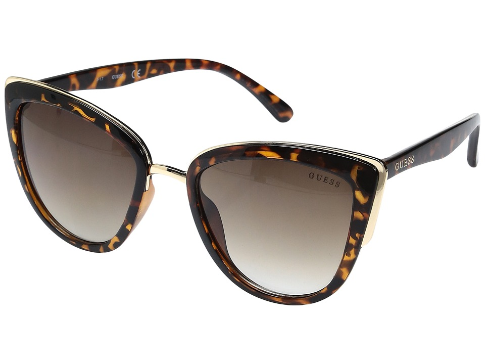 GUESS - GF0313 (Dark Havana/Gradient Brown Lens) Fashion Sunglasses