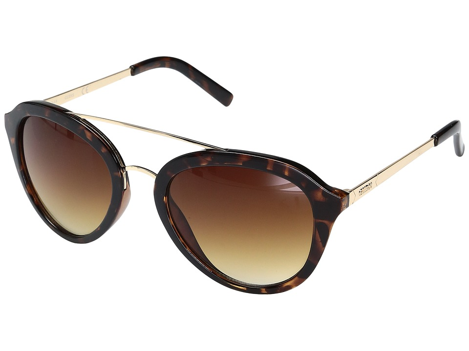 GUESS - GF0310 (Dark Havana/Gradient Brown Lens) Fashion Sunglasses