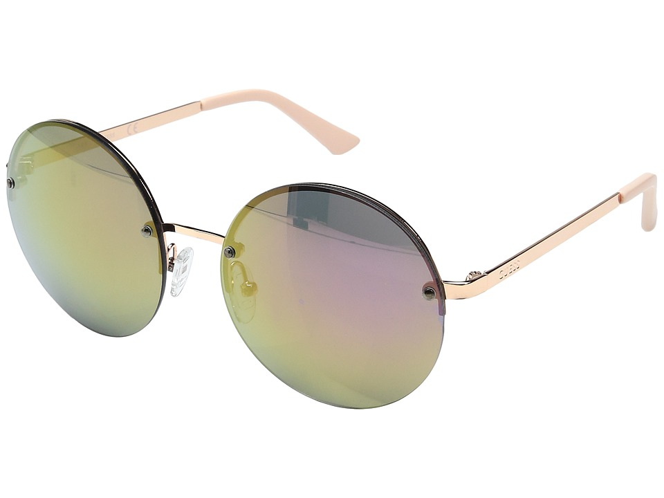 GUESS - GF0308 (Rose Gold/Rose Gold Mirror Lens) Fashion Sunglasses