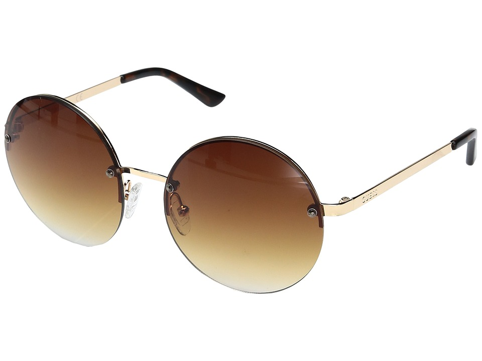 GUESS - GF0308 (Gold/Brown Gradient Lens) Fashion Sunglasses