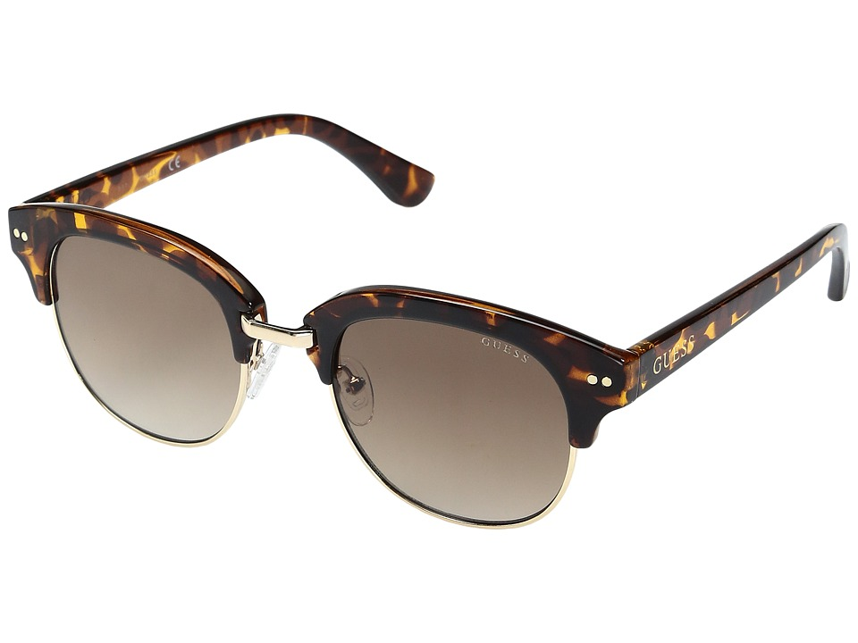 GUESS - GF0314 (Dark Havana/Gradient Brown Lens) Fashion Sunglasses