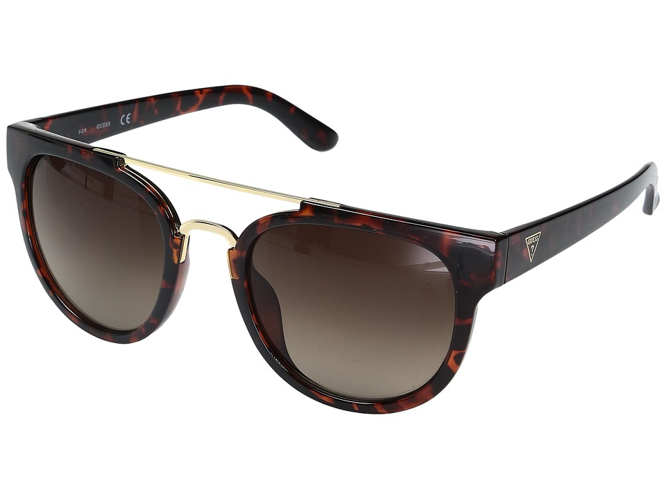 GUESS - GF0315 (Dark Havana/Gradient Brown Lens) Fashion Sunglasses