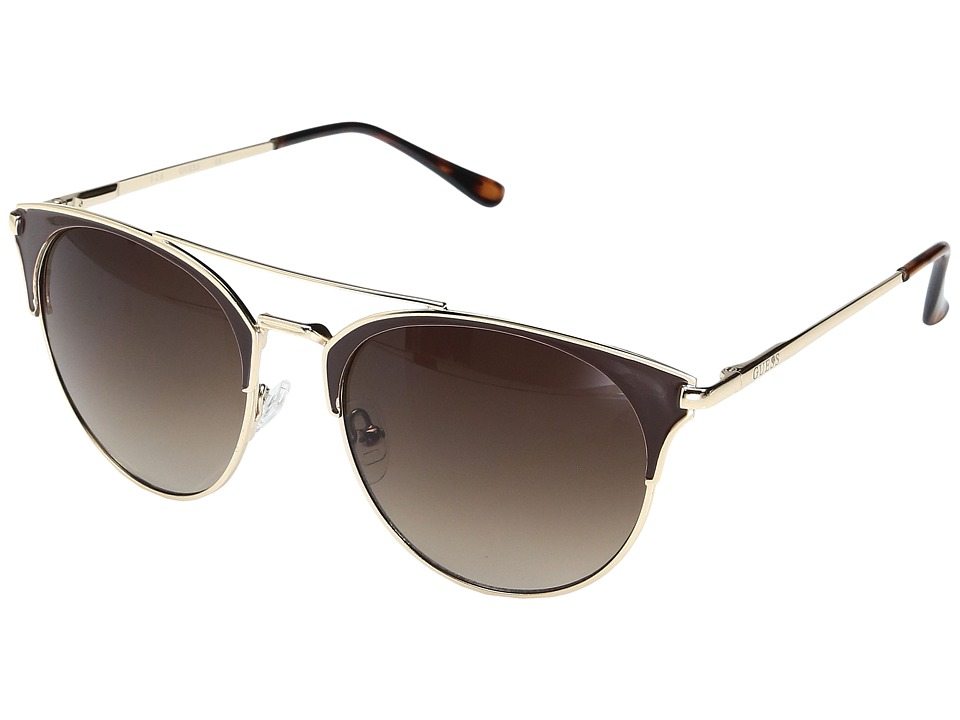 GUESS - GF0312 (Gold/Brown Epoxy/Gradient Brown Lens) Fashion Sunglasses