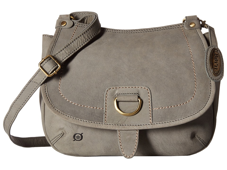 Born - Zephyr Flap Saddle Bag (Charcoal) Handbags