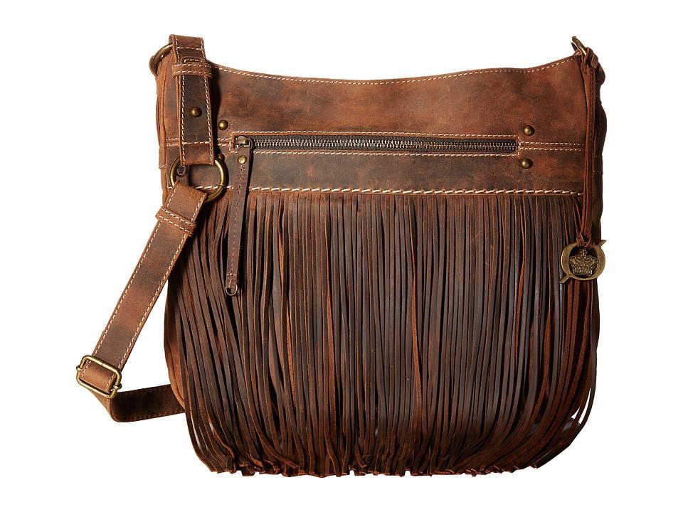 Born - Armuchee Large Fringe Messenger (Sand) Messenger Bags