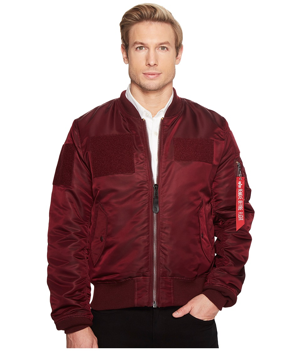 Alpha Industries - MA-1 Slim Fit Flight Jacket (Maroon) Men's Coat
