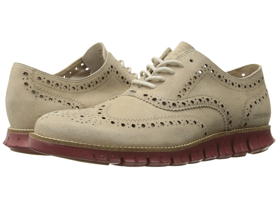 Cole Haan - Zerogrand Wing Ox Suede (Barley Suede/Masonry Madras) Men's Shoes