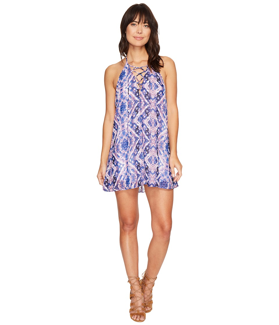 Show Me Your Mumu - Lo Lace-Up Mini Dress (Purple Haze) Women's Dress