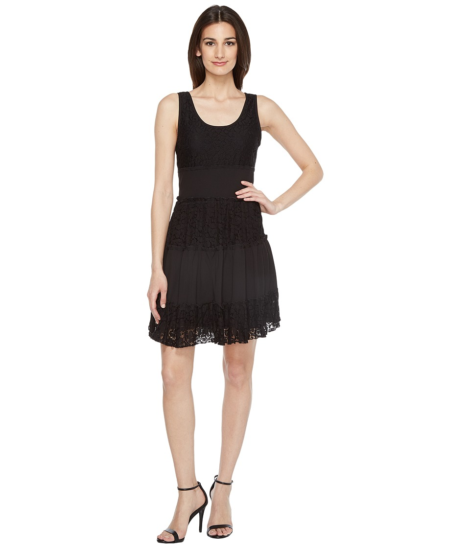 Karen Kane - Tara Tiered Lace Dress (Black) Women's Dress