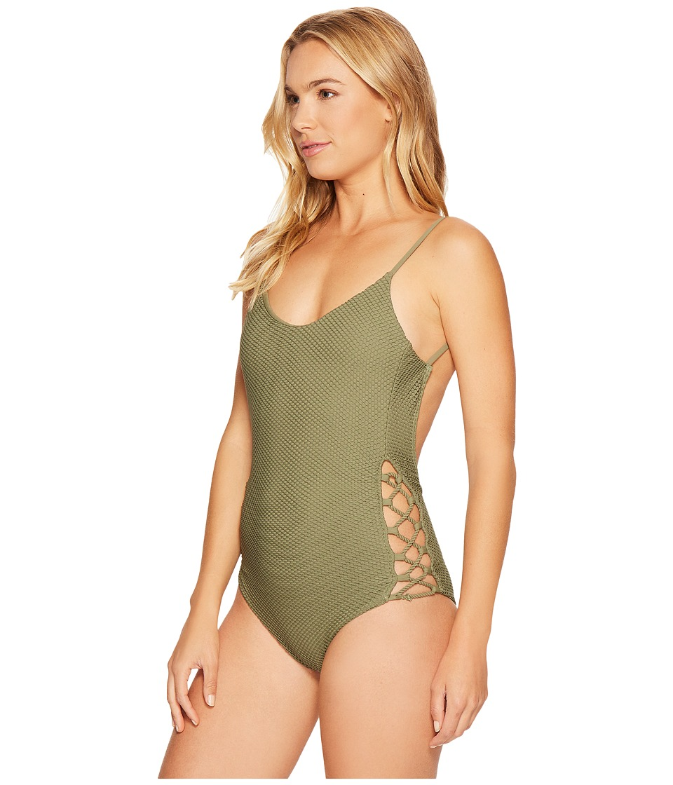 Billabong - Meshin with You One-Piece (Seagrass) Women's Swimsuits One Piece