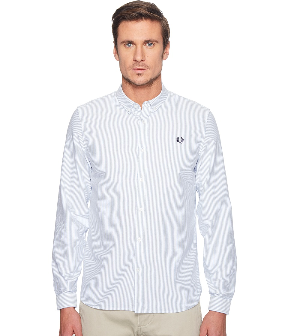 Fred Perry - Oxford Pinstripe Shirt (Royal) Men's Clothing