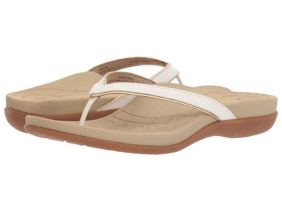 Aetrex - Maddie (Cream) Women's Shoes