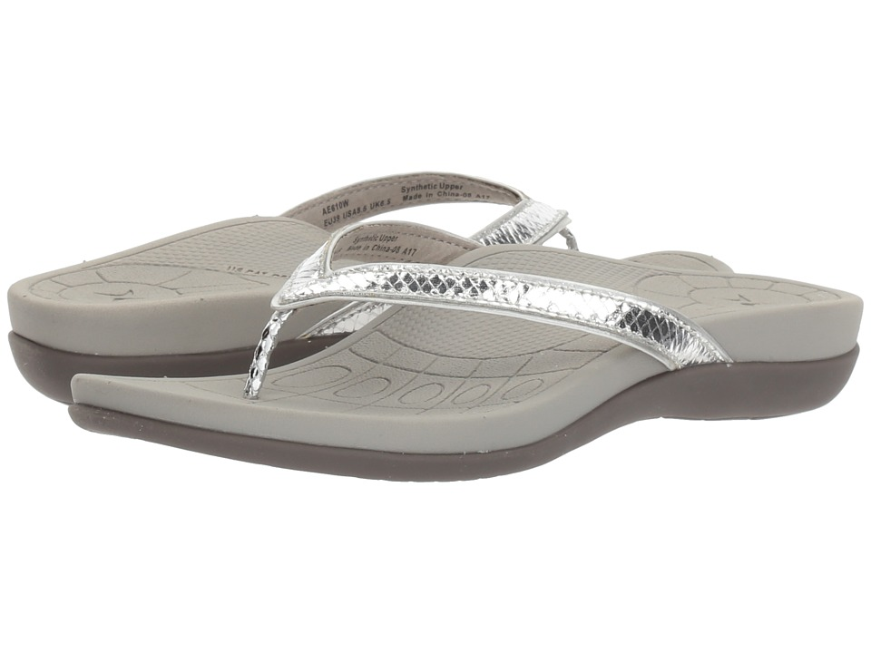 Aetrex - Maddie (Silver Snake) Women's Shoes