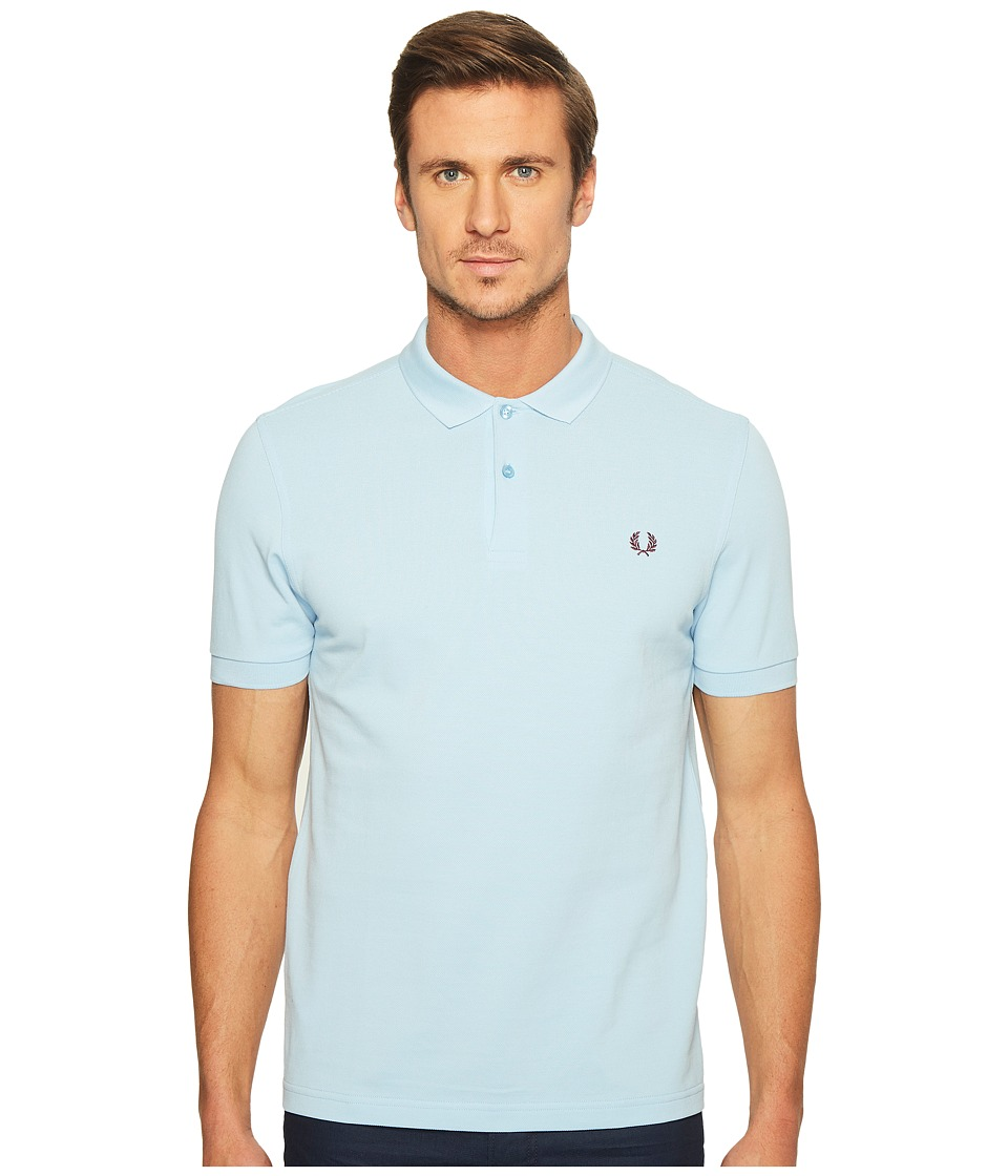 Fred Perry - Slim Fit Solid Plain Polo (Glacier) Men's Short Sleeve Pullover