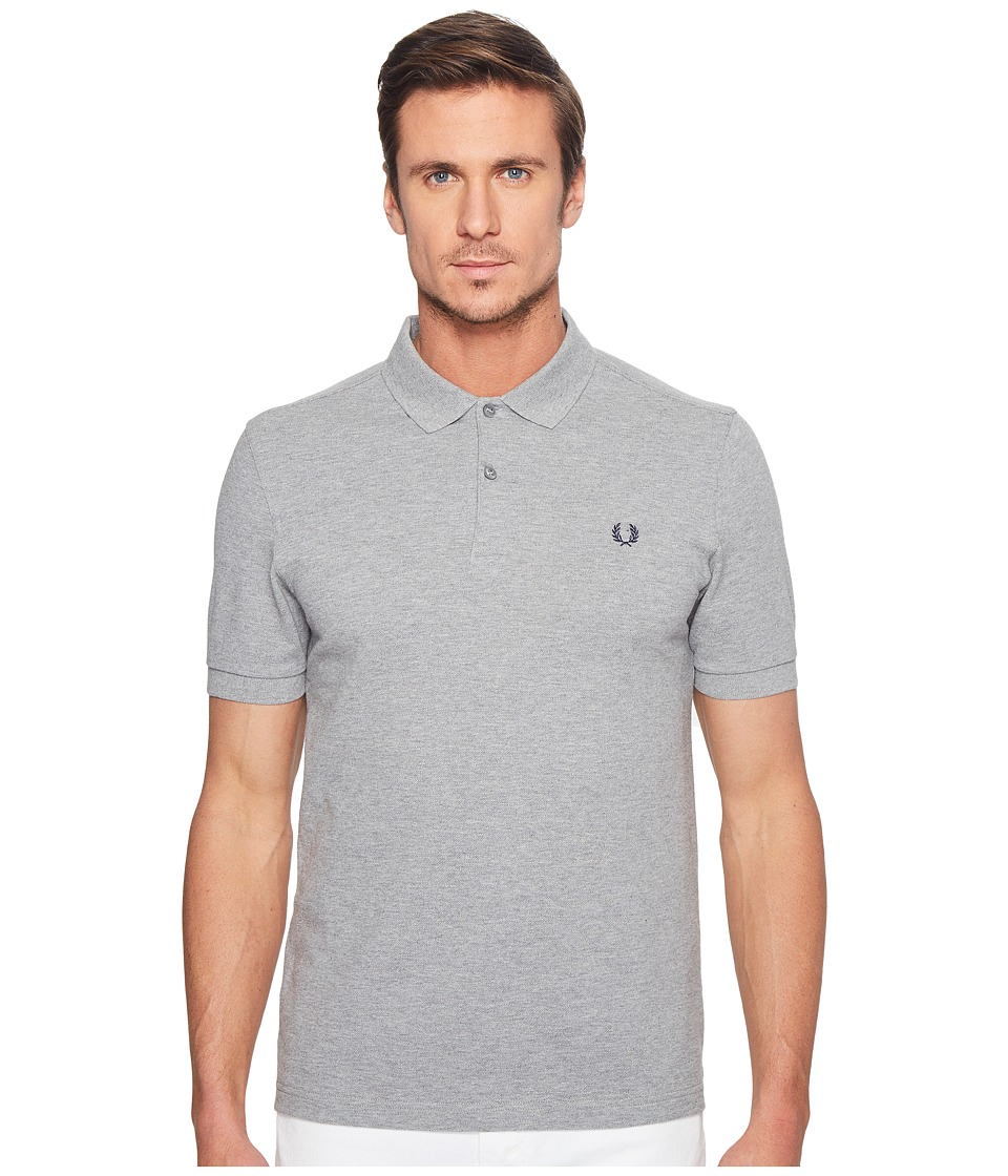 Fred Perry - Slim Fit Solid Plain Polo (Steel Marl) Men's Short Sleeve Pullover