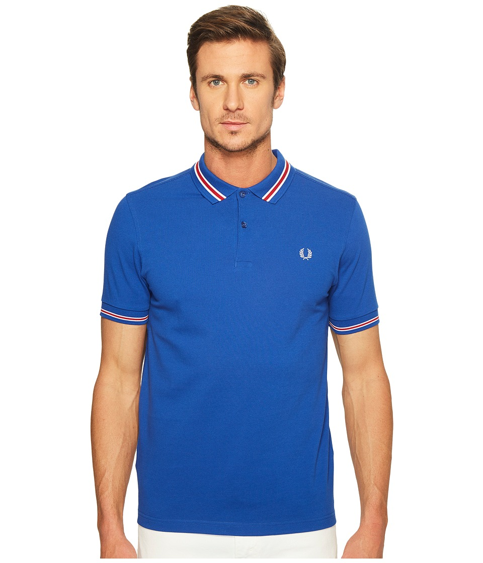 Fred Perry - Bomber Stripe Pique Shirt (Regal) Men's Clothing