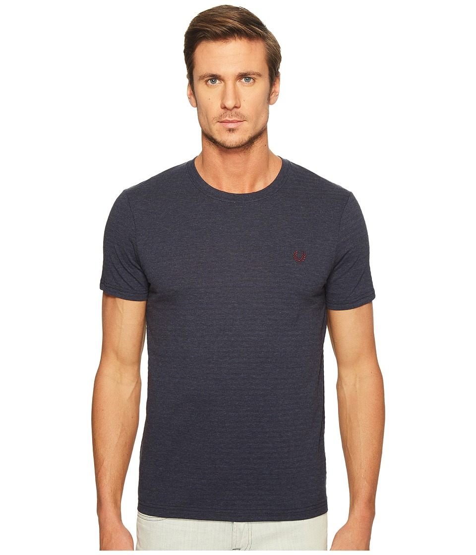 Fred Perry - Textured Stripe T-Shirt (French Navy Marl) Men's T Shirt
