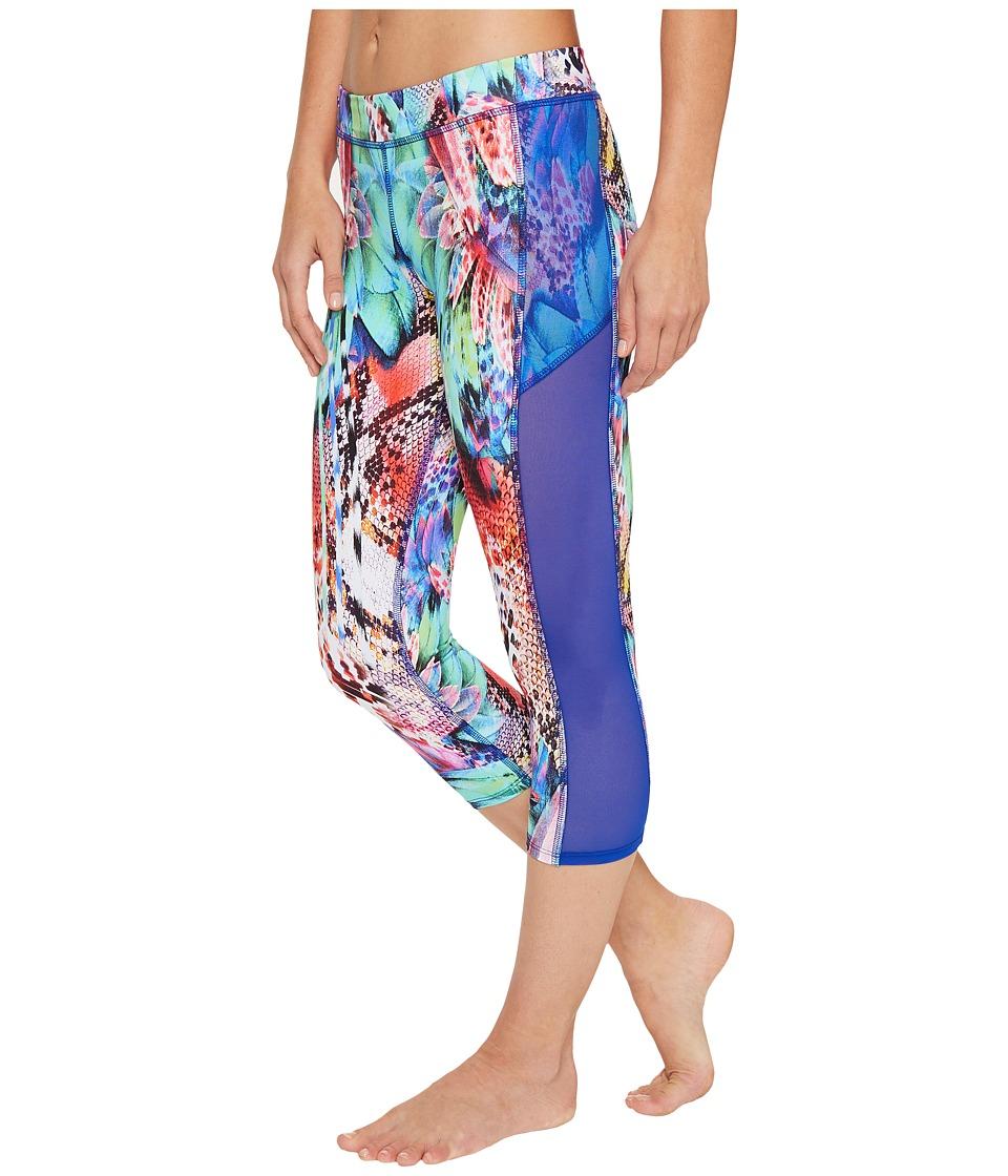 Luli Fama - Gorgeous Chaos Mesh Sides Capri (Multi) Women's Casual Pants