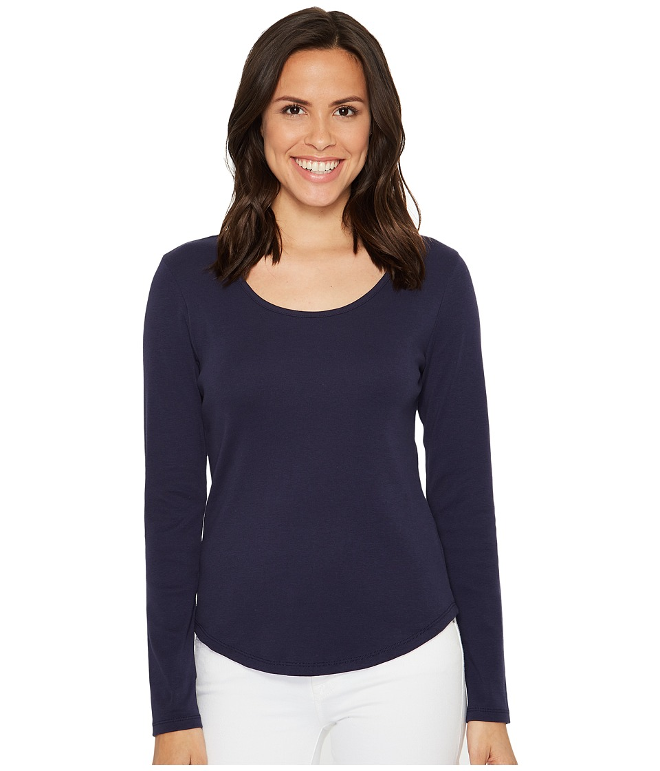 Lilla P - Long Sleeve Scoop Neck (Navy) Women's Clothing