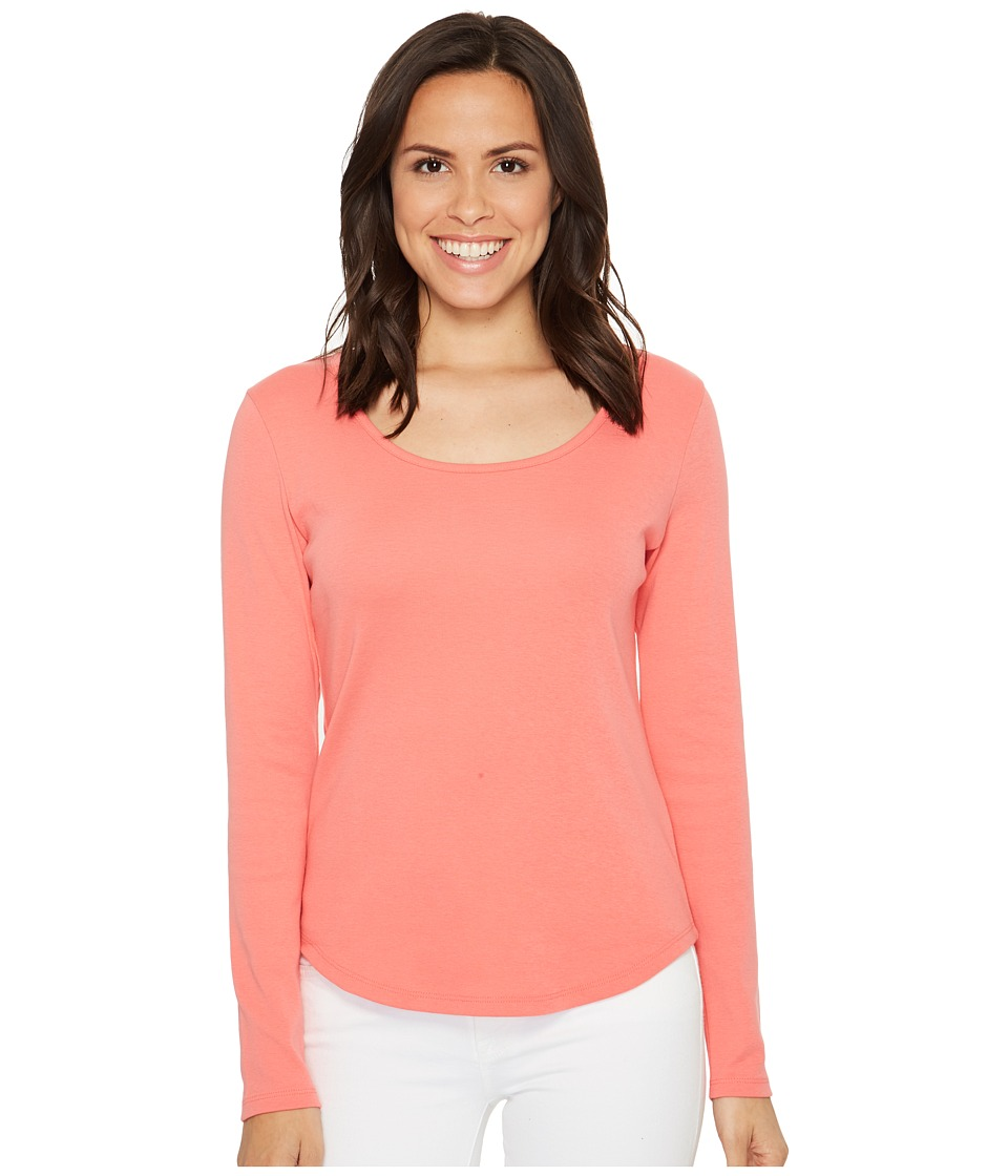 Lilla P - Long Sleeve Scoop Neck (Punch) Women's Clothing