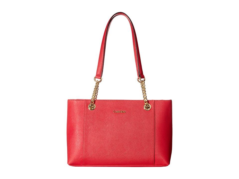 Calvin Klein - Key Item Saffiano Tote (Watermelon) Tote Handbags
