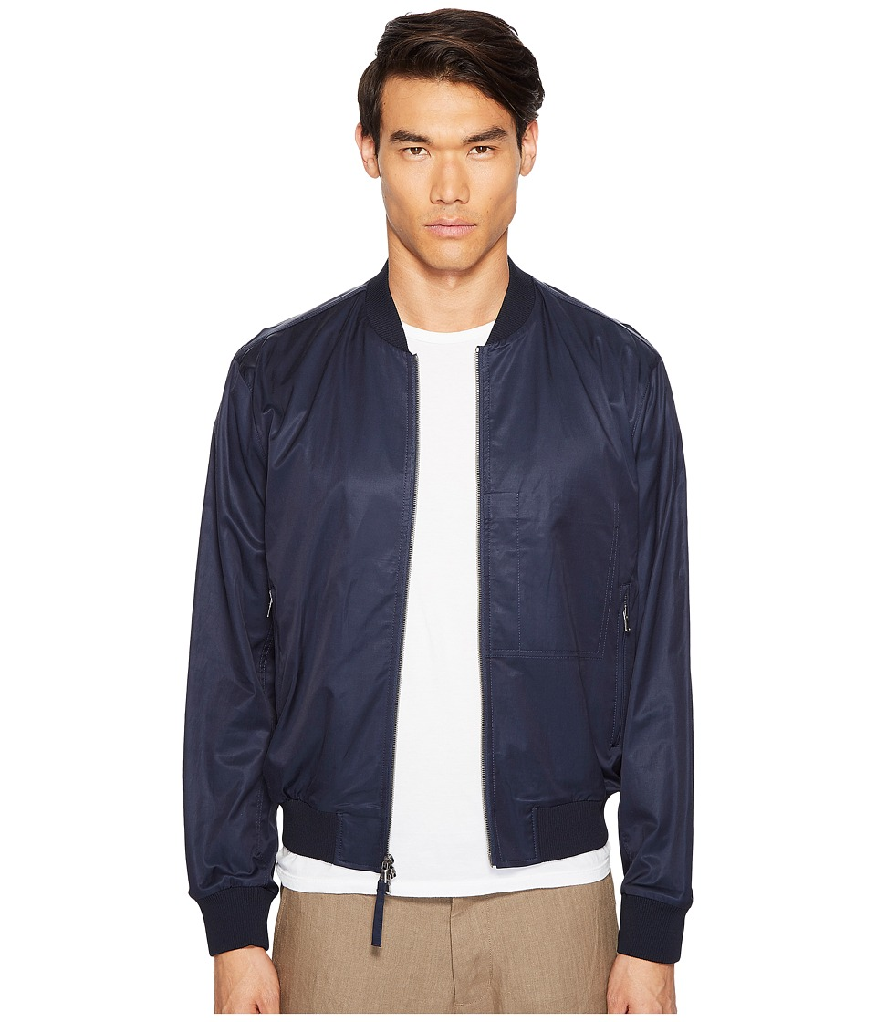 Vince - Washed Satin Bomber (Navy) Men's Coat