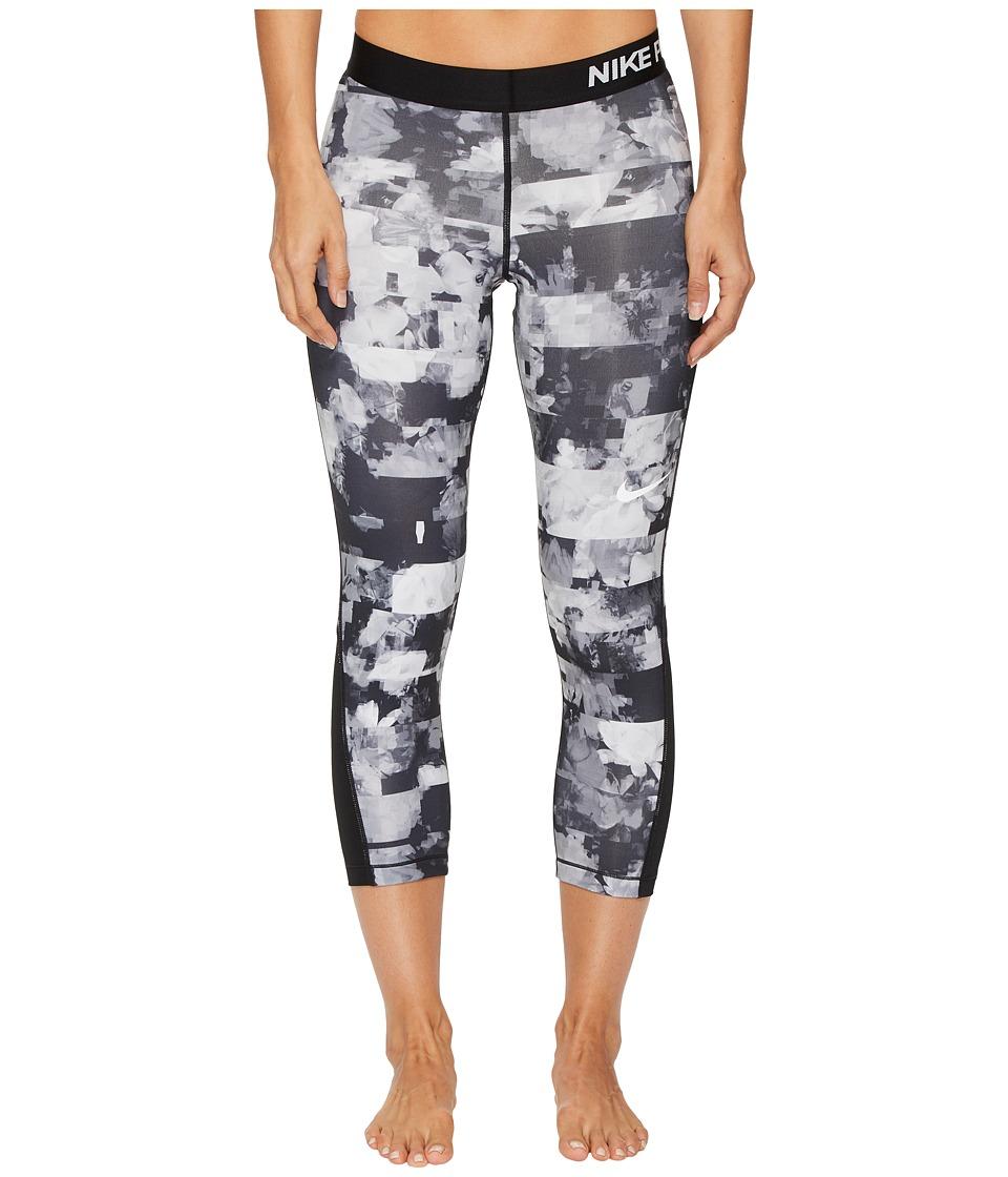 Nike Pro Flower Jam Capri (Wolf Grey/Black/White) Women