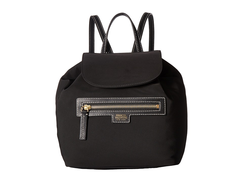 Frances Valentine - Drawstring Backpack (Black) Backpack Bags