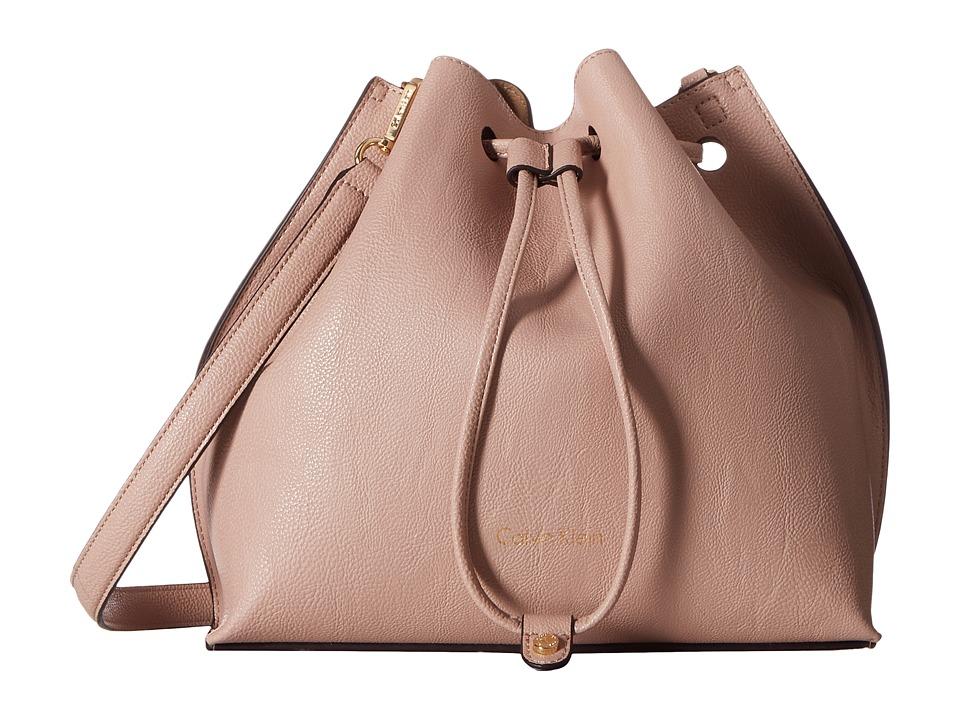 Calvin Klein - Freestyle Pebble PVC Drawstring (Sugarplum/Nude) Drawstring Handbags