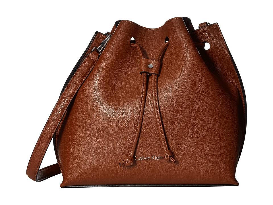 Calvin Klein - Freestyle Pebble PVC Drawstring (Luggage/Black) Drawstring Handbags