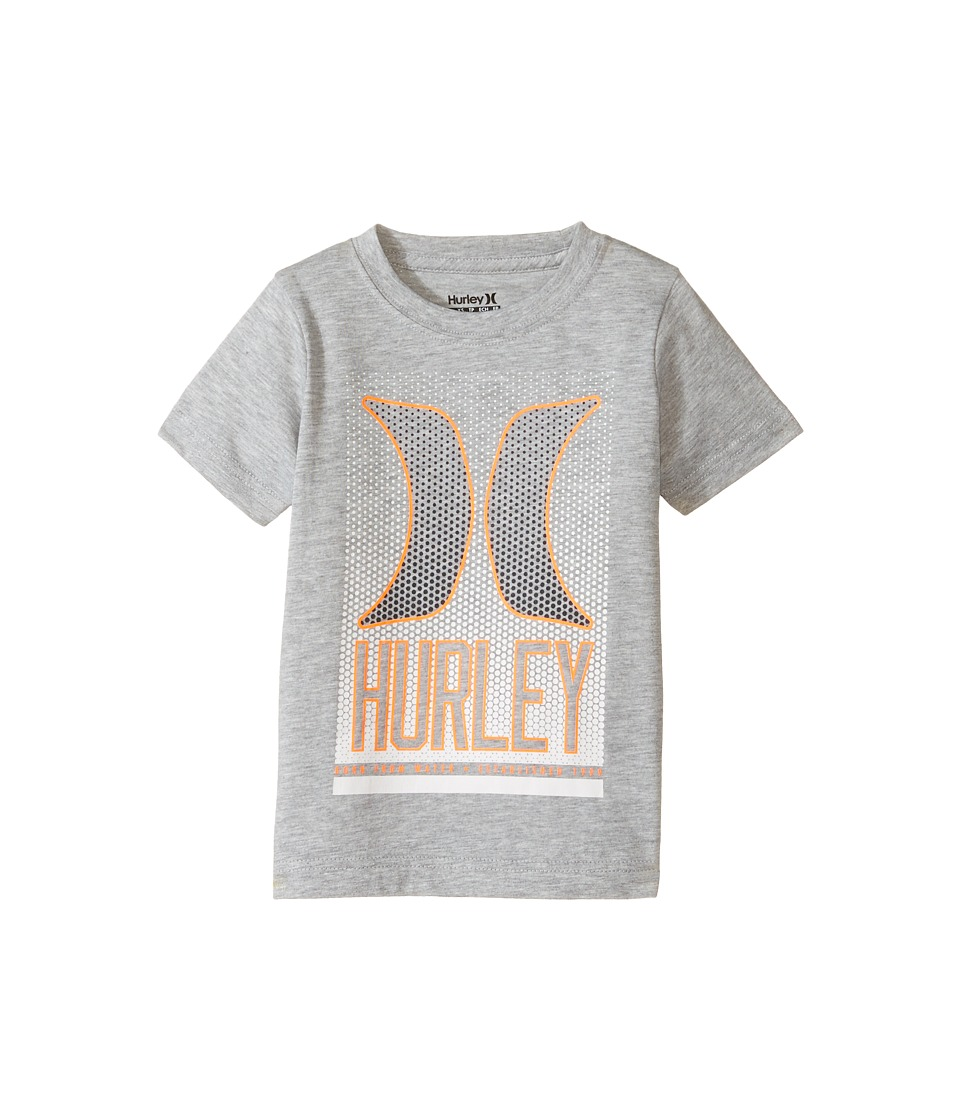 Hurley Kids - On the Dot Tee (Little Kids) (Dark Grey Heather) Boy's T Shirt