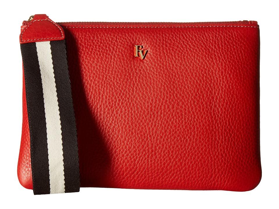 Frances Valentine - Wristlet with Webbing (Coral) Wristlet Handbags