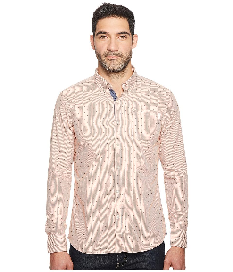Image of 7 Diamonds - Afterglow Long Sleeve Shirt (Rust) Men's Long Sleeve Button Up