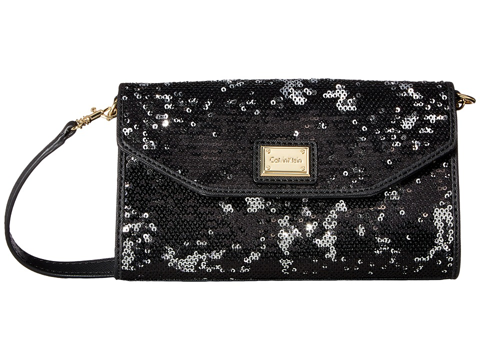 Calvin Klein - Novelty Gifting Crossbody (Black Sequin) Cross Body Handbags