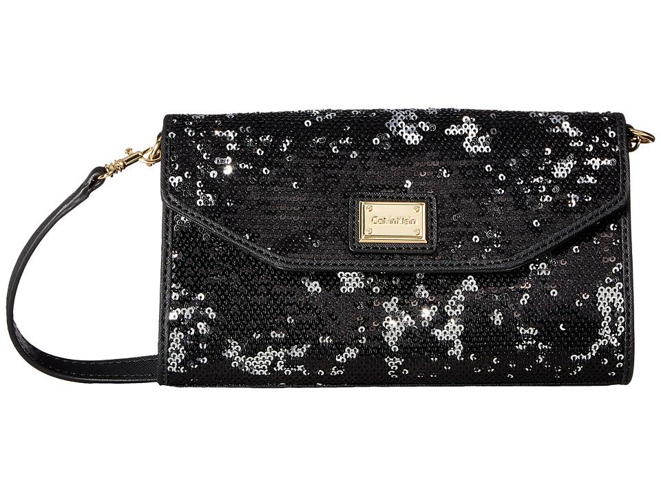 Calvin Klein - Novelty Gifting Crossbody (Black Sequin) Cross Body Handbags