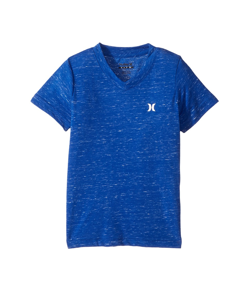 Hurley Kids - Cloud Slub Staple V-Neck Tee (Little Kids) (Racer Blue) Boy's T Shirt