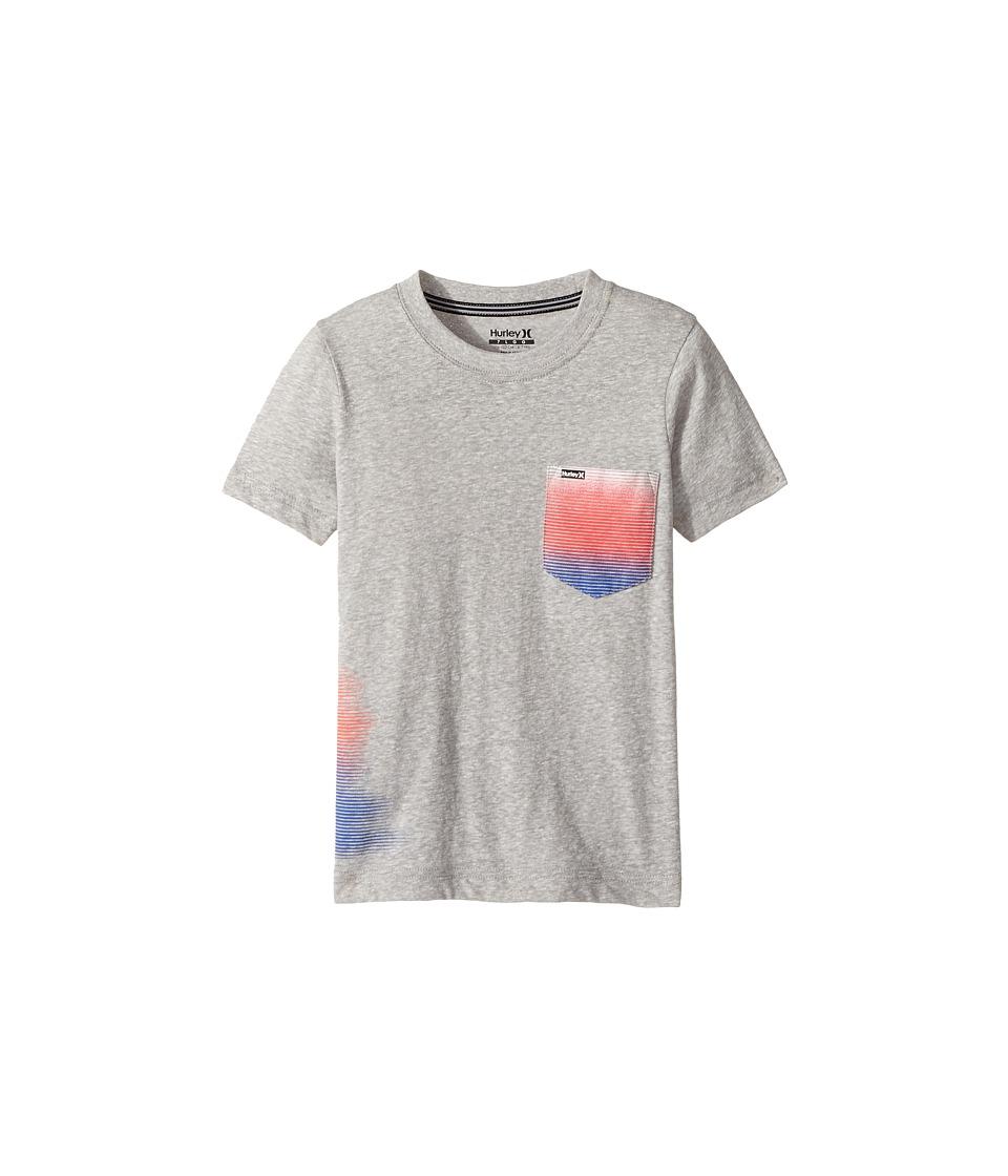 Hurley Kids - Blur Wrap Tee (Little Kids) (Gray Heather Snow Yarn) Boy's T Shirt