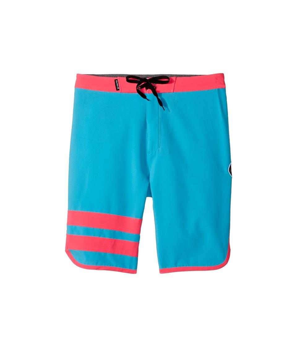 Hurley Kids Print Block Party Boardshorts (Big Kids) (Chlorine Blue) Boy