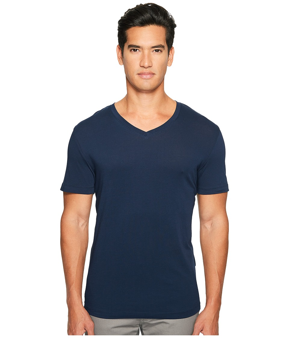 onia - Joey V-Neck Tee (Deep Navy) Men's T Shirt