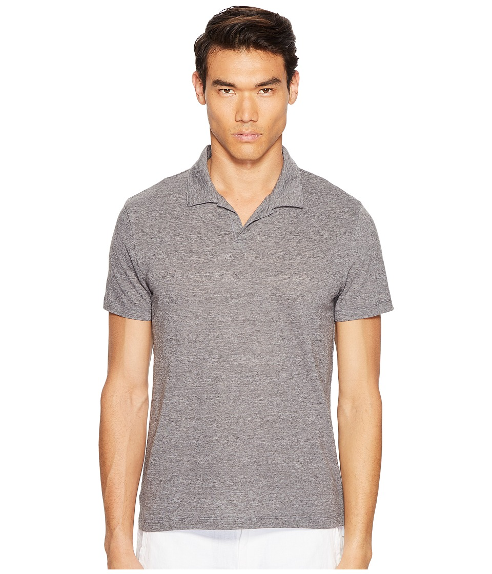 onia - Shaun Polo (Dark Heather Grey) Men's Short Sleeve Pullover