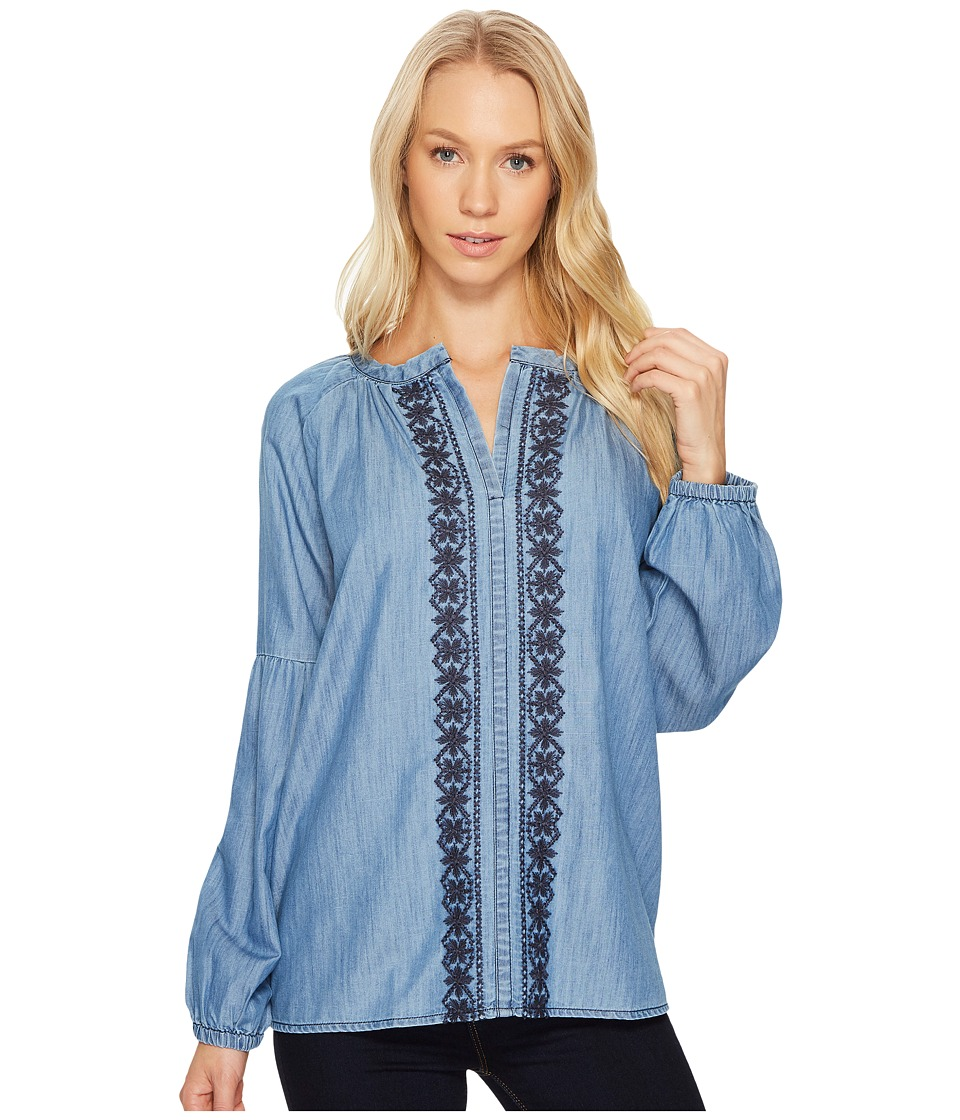 Jag Jeans - Casper Shirt in Cotton Tencel Chambray (Light Indigo Wash) Women's Clothing