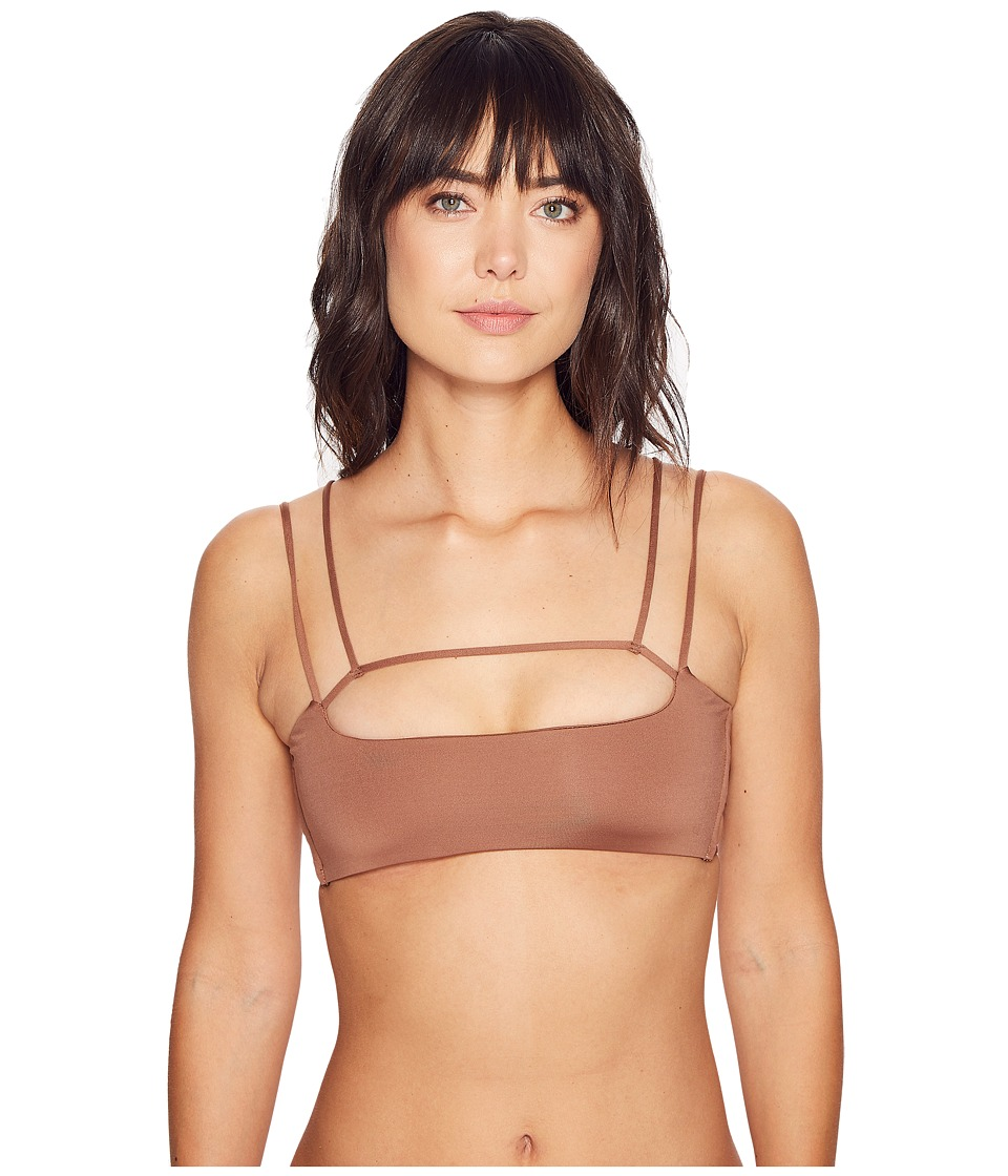 Blue Life - Sunbeam Scoop Top (Cacao) Women's Swimwear