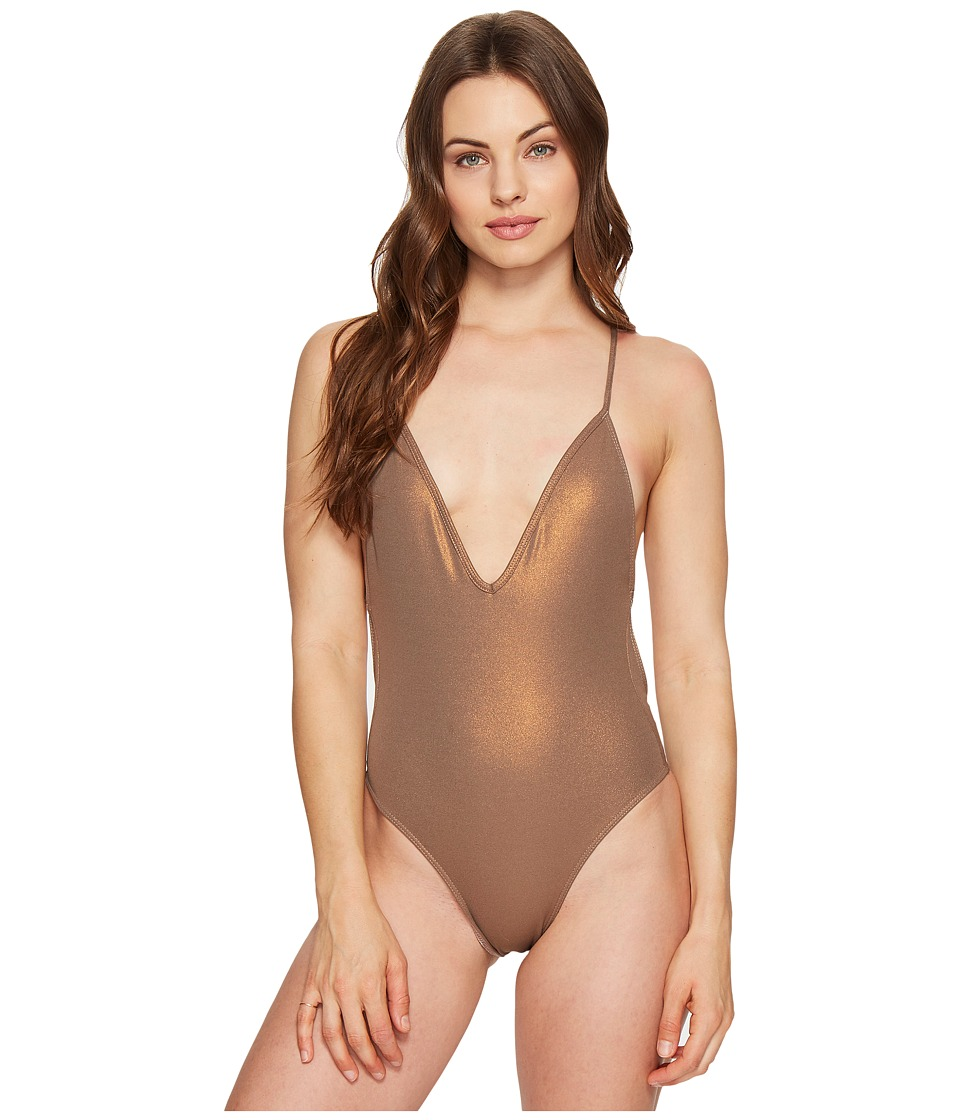 Blue Life - Plunge One-Piece (Coppertone) Women's Swimsuits One Piece