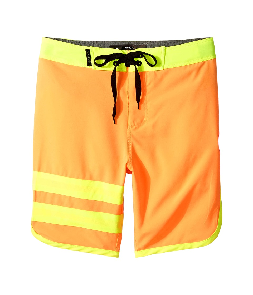 Hurley Kids Print Block Party Boardshorts (Little Kids) (Atomic Mango) Boy