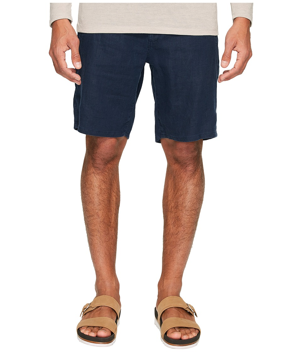 onia - Max Drawstring Linen Shorts (Deep Navy) Men's Shorts