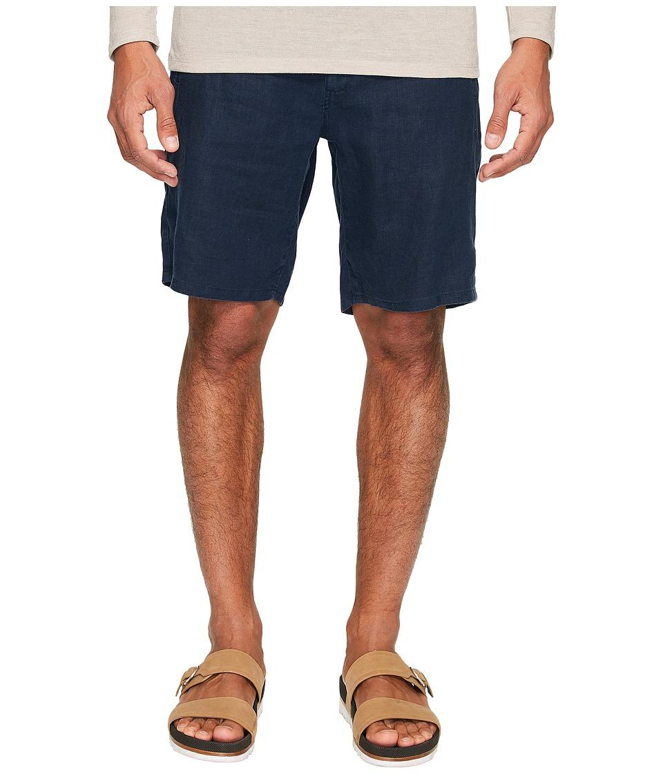 onia - Max Drawstring Linen Shorts (Deep Navy) Men's Shorts
