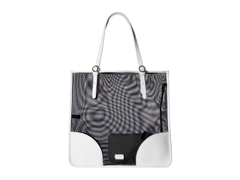 Frances Valentine - FV Perforated Mesh Tote (Black/Bone) Tote Handbags