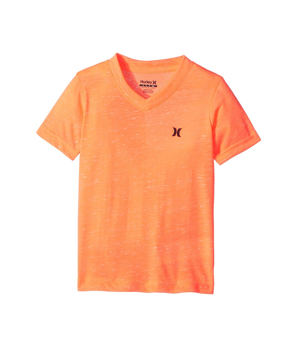 Hurley Kids - Cloud Slub Staple V-Neck Tee (Little Kids) (Hyper Crimson) Boy's T Shirt