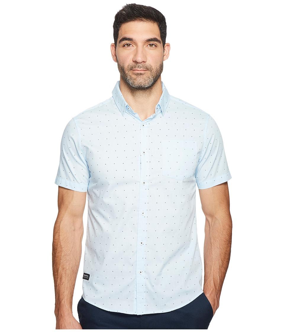 Image of 7 Diamonds - Beachwood Canyon Short Sleeve Shirt (Light Blue) Men's Short Sleeve Button Up